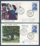 France - FDC - Premier Jour - Gustave Courbet - Ornans - 1958 - FDC