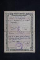 FRANCE - Carte D'Identité Scolaire Du Lycée Lakanal De Sceaux En 1942/43 , Photographie Enlevée - 45492 - Oude Documenten