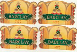 4 étiquette De Cigare Gaufrée Neuve Barclay Florfina - Etiquettes