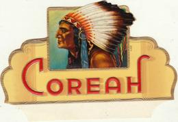 étiquette De Cigare Gaufrée Neuve Coreah Indien - Etiquettes