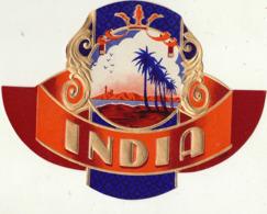 étiquette De Cigare Gaufrée Neuve INDIA - Etiquettes