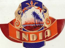 étiquette De Cigare Gaufrée Neuve INDIA - Etiquetas