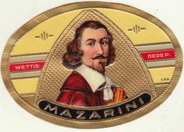étiquette De Cigare Gaufrée Neuve MAZARINI Mazarin - Etiquetas
