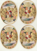 4 étiquette De Cigare Gaufrée Neuve Primeros - Etiketten