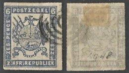 Transvaal 1872. 6d Ultramarine. SACC 26, SG 27. - Südafrika (...-1961)