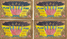 4 étiquette De Cigare Gaufrée Neuve Florfina - Etiquettes