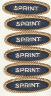 6 étiquette De Cigare Gaufrée Neuve Sprint - Labels