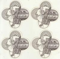 4 étiquette De Cigare Gaufrée Neuve Fusil Chasse - Etiketten