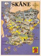 Skane (Suède) - Carte Géographique - Suède