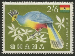 Ghana - 1959 Giant Plantain Eater 2/6d MLH * - Ghana (1957-...)