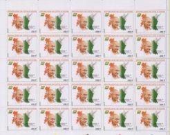 Côte D'Ivoire 2019 Ivory Coast 150ème Anniversiare De Mahatma  Gandhi  Apôtre De La Paix 25 Timbres - Côte D'Ivoire (1960-...)