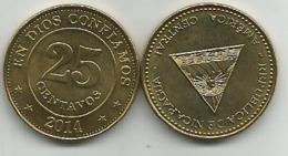 Nicaragua 25 Centavos  2014. High Grade - Nicaragua