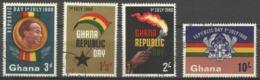 GHANA - 1960 Republic Day Used  SG 245-8  Sc 78-81 - Ghana (1957-...)