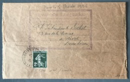 France N°278 Seul Sur Bande Journal, 1936 - (B1619) - 1921-1960: Période Moderne