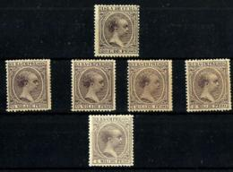 Cuba Española 6 Valores. Cat.10€ - Cuba (1874-1898)