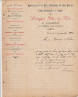 VISCOMTAT BEAUJEU MANUFACTURE DE TIRE BOUCHONS CANNE TIRE BOUTONS MECHES EN MAILLE ANNEE 1902 USINE HYDRAULIQUE A VAPEUR - Francia