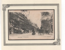 Cpa Paris Vécu N°8 Le Boulevard - Ile-de-France