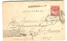 1902 Postcard Salomon-tornya Visegrad FORWARDED TO NEW YORK - Hongrie