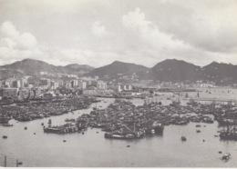 A/1 - CARTOLINA - HONG KONG:A VIEW OF THE BAY - CINA - VIAGGIATA - Cina (Hong Kong)