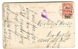 1915 Postcardwith HADI SEGÉLY Stamp And CENSOR Mark Überprüft Budapest In Violet Sent To The US Dec 31, 1915 - Hongrie