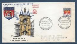 France - FDC - Premier Jour - Armoiries De Bordeaux - 1958 - FDC