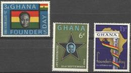 GHANA - 1960 Founders Day 3 MH *  SG 253-5  Sc 86-8 - Ghana (1957-...)