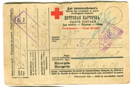 1917 RED CROSS  POW Hungarian Prisoner Of War Censor Mark ZENTRALNACHW. WIEN Violet + More - Hongrie