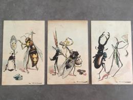LOT DE 3 CPA DE A.VIMAR ATTENTION ETAT MOYEN DOS COLLE UNE UN PLIS DANS LA LONGUEUR - Künstlerkarten