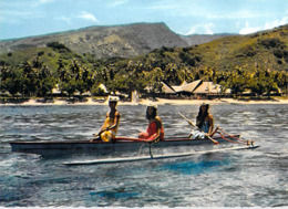 Polynésie Française- TAHITI Le Charme De L'Hôtel Tahiti Village (1) (pirogue )( LABAYSSE La Baysse N°99)@*PRIX  FIXE - Polynésie Française