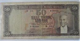 Turkey - Turquie 50 Lirasi Note (1953) - Turchia
