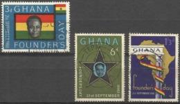 GHANA - 1960 Founders Day Set Of 3 Used  SG 253-5  Sc 86-8 - Ghana (1957-...)