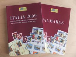 Italy Italia 2009 Festival Internazionale Della Filatelia Palmeras Two Brochures - Mostre Filateliche