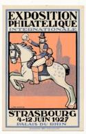 FRANCE - Carte Postale Semeuse Camée 40c TSC EXPOSITION PHILATELIQUE STRASBOURG 4-12/6/1927 - Cartes Postales Types Et TSC (avant 1995)