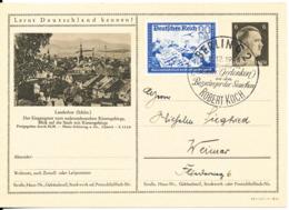Germany Reich Uprated Postal Stationery Postkarte Berlin 11-12-1943 Zum Gedenken Robert Koch - Allemagne
