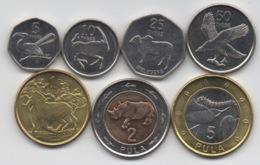 Botswana : Série De 7 Pièces 2013 UNC Dont 2 BIMETAL - Botswana