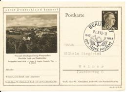 Germany Reich Postal Stationery Postkarte Berlin 1-3-1943 100 Jahre Postamt - Allemagne