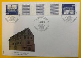 9051 -  S74 FDC  Berne 18.06.1970 - Zusammendrucke