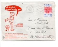 N°2496 SEUL SUR LETTRE DE L'HERMENAULT VENDEE 1987 - Marcophilie (Lettres)