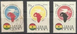 GHANA - 1962 Casablanca Conference MNH * (3d Is Used)  SG 277-9  Sc 111 & C5-6 - Ghana (1957-...)