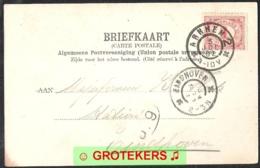 Stempel NVPH GRBK 0021b   Arnhem 2 Met Kruisen Grootrond Op Ak ROZENDAAL/VELP Kasteel Rozendaal  1902 - Poststempels/ Marcofilie