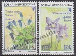 Bosnia Hercegovina - Bosnie 2002 Yvert 369-70, Flora, Flowers - MNH - Bosnie-Herzegovine