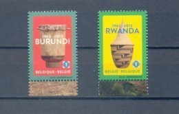 4240/41 BURUNDI EN RWANDA  POSTFRIS**  2012 - Belgium