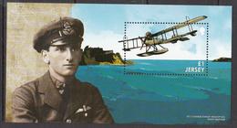 2015 Jersey World War I WWI Aviation Mossop  Souvenir Sheet MNH @   BELOW FACE VALUE - Jersey