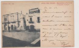 Gioia Del Colle (BA) Monumento A Garibaldi E Ginnasio Losapio, Rara - F.p.- Fine '1800 / Inizi'1900 - Bari