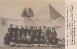 RP: SPHINX , Egypt , 00-10s ; Armenian Girl Orphans - Sphinx