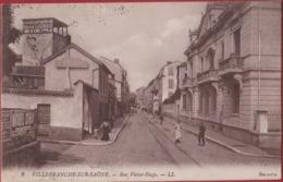 Villefranche-sur-Saone Rue Victor Hugo Rhone France CPA 1922 Animee (En Très Bon Etat) (In Very Good Condition) - Villefranche-sur-Saone