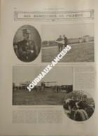"""1910 LES GRANDES MANOEUVRES DE PICARDIE - SOLDATS TRAVERSANT GRANDVILLIERS - DIRIGEABLE """"CLÉMENT-BAYARD"""" - Livres, BD, Revues"""