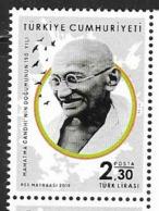 TURKEY, 2019, MNH, GANDHI, 1v - Mahatma Gandhi