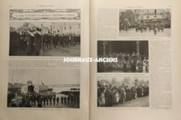 1910 LE VOYAGE DU PRESIDENT DE LA REPUBLIQUE À SAINT NAZAIRE ET BORDEAUX - DÉBARCADAIRE DES BATEAUX DE ROYAN - Livres, BD, Revues