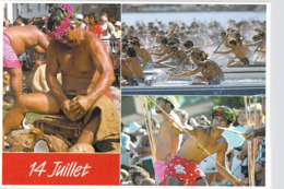 Polynésie Française-HEIVA Est La Période Pendant Laquelle Les Hommes Des îles Voisinnes..(14 Juillet) CAO C 02 Tahiti @ - Polynésie Française